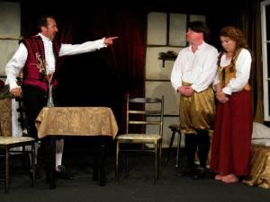 Sebastian Sash (Shakespeare), Wolfgang Haas (Romeo), Sonja Reichelt (Julia)